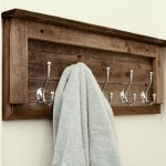 wooden bathroom towel rack