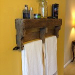 wooden bathroom towel rack shelf