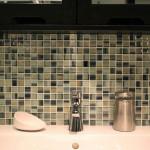 glass mosaic tile bathroom design