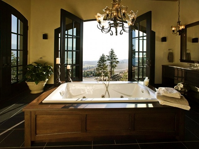 luxury spa bathroom designs - the best design ideas for hot tubs
