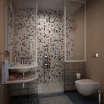 mosaic tile bathroom wall