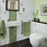 mosaic tile feature bathroom