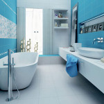 spa blue bathroom