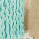 cascade ruffle shower curtain
