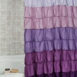 long ruffle shower curtain
