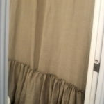 ruffle shower curtain cottage