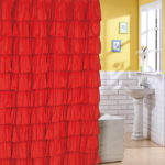 ruffle shower curtain flamenco tiered