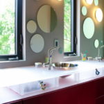 Acrylic Glass Bathroom Countertop