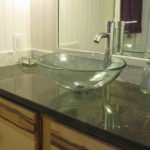 Awesome Tempered Glass Countertop Bathroom