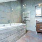 Bathroom Look Bigger with Large Tiles