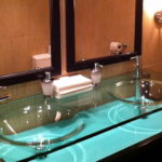 Bathrooms with Glass Countertop