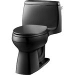 Black Comfort Height Toilet
