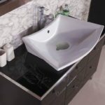 Black Glass Bathroom Countertop