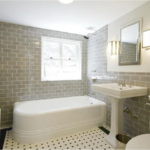 Contemproary Subway Tile Bathroom