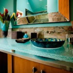 Cool Glass Bathroom Countertop