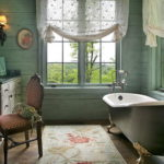 Country Bathroom Window Curtains