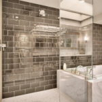 Dark Subway Tile Bathroom