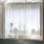 Easy DIY Window Curtain for Bath