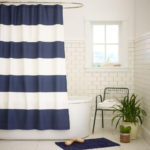 Elegant Bathroom Minimalist Shower Curtain Ideas