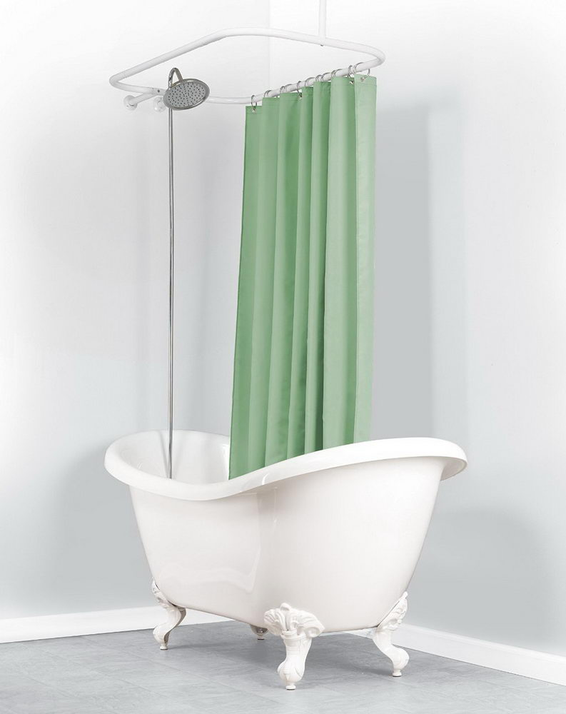 Green Minimalist Shower Curtain