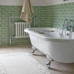 Green Subway Tile Bathroom