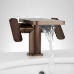 handle waterfall bathroom faucet