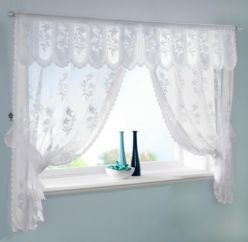 Lace Bathroom Window Curtains