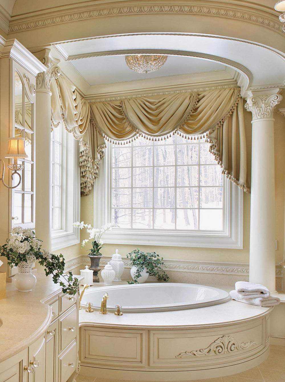 Luxury Bathroom Window Curtains