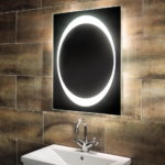 Luxury Oval Mirrors with LED Light for Bathroom