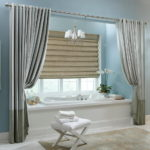 Magnificent Bathroom Window Curtains