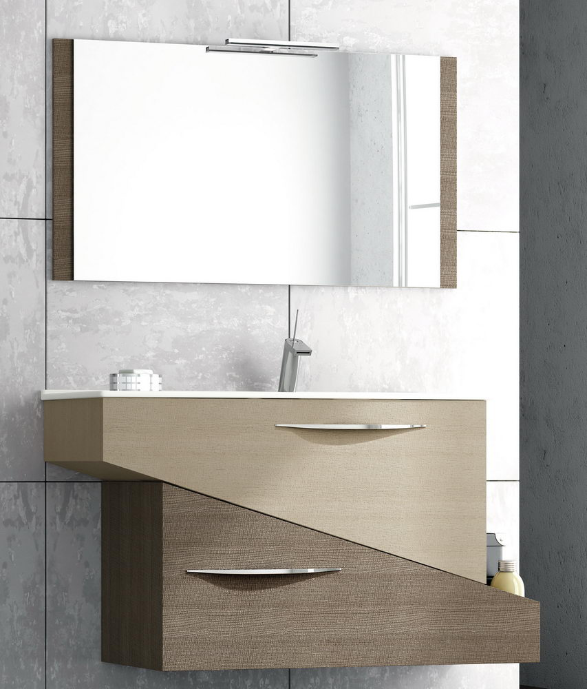 Modern Small Bathroom Vanity with Mirror