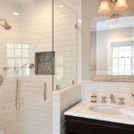 Outsanding White Subway Tile Bathroom