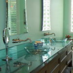 Simple Glass Bathroom Countertop