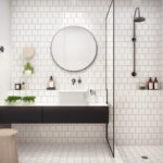 Subway Square Tile Bathroom