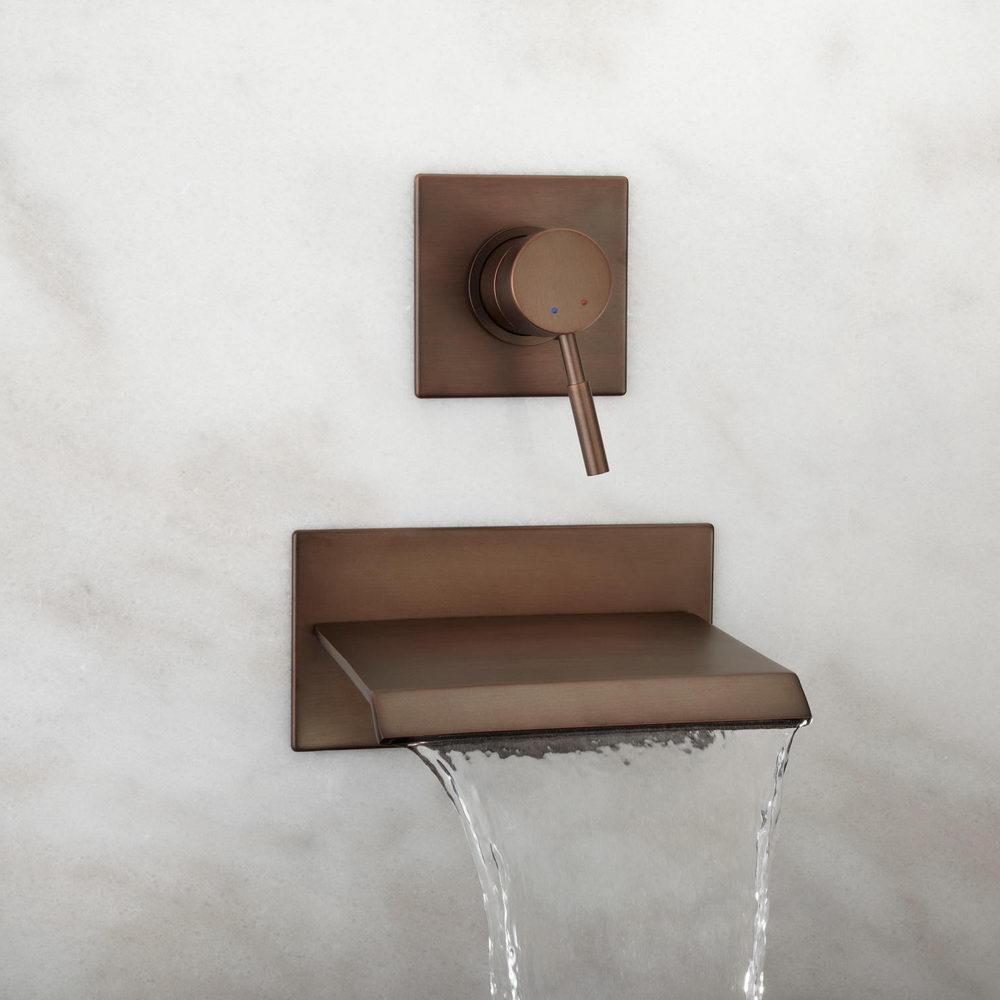 wall mount bathroom sink faucet