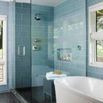 Awesome Bathroom Glass Shower Tiles
