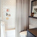 Bathroom with White Subway Glass Tiles