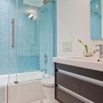 Blue Glass Tiles for Bath