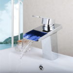 Deck Mount Waterfall Bathroom LED faucet