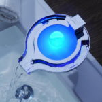 LED Widespread Waterfall Bathroom Sink Faucet