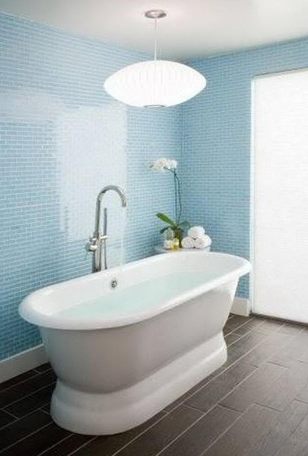 Light Blue Glass Tiles - Glass Tile Bathroom – The Show of Style ...