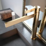 Polished Gold Contemporary Bathroom Faucet