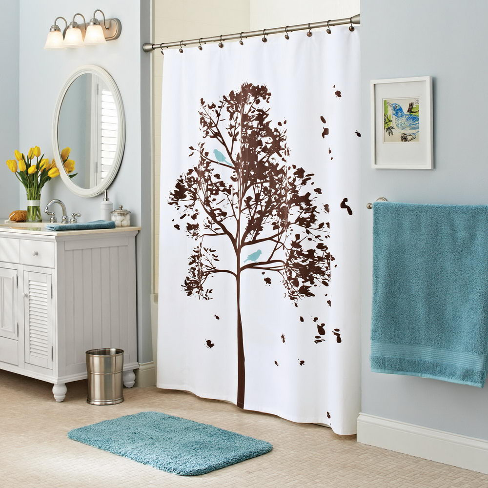 Shower Curtains with Tree