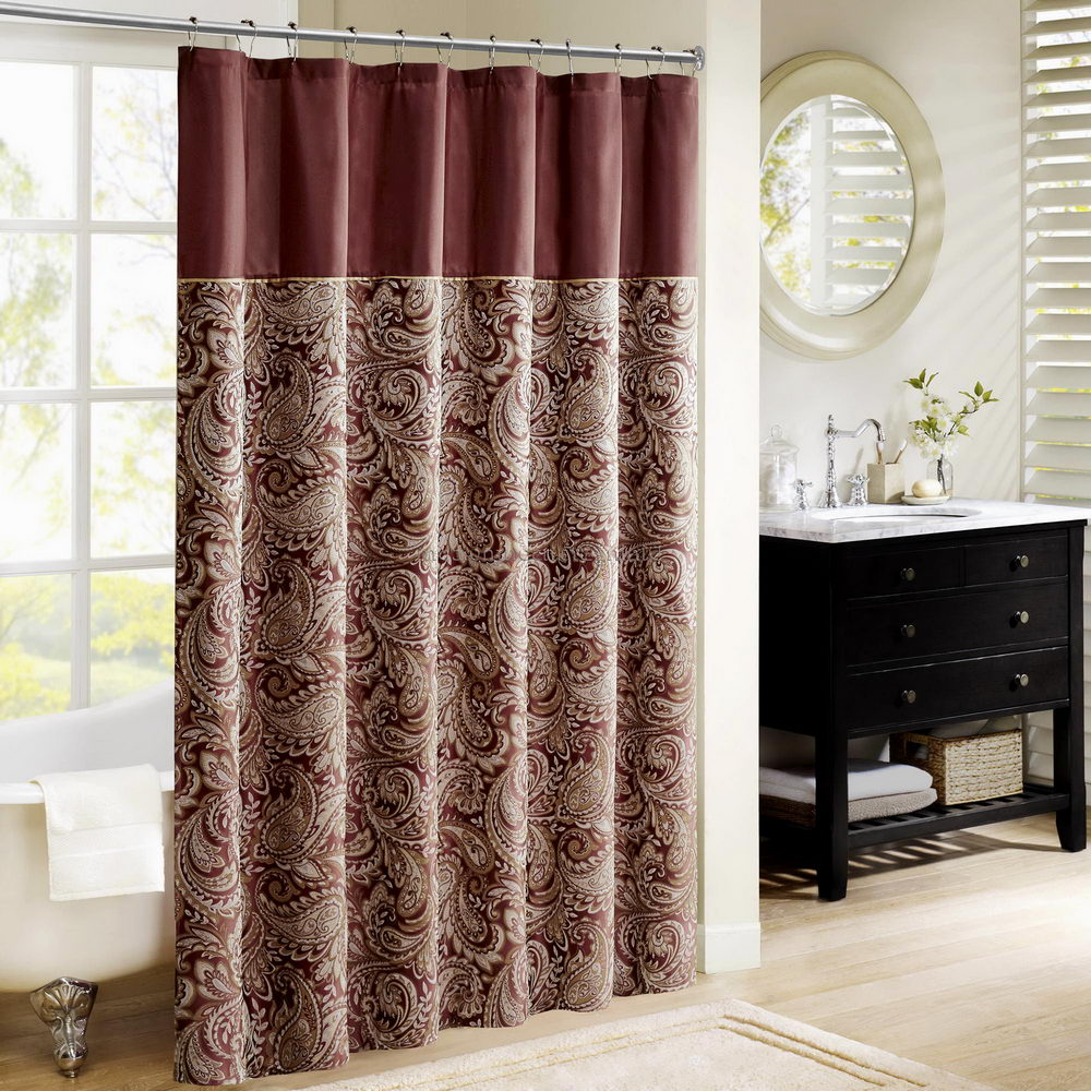Tie Back Shower Curtains