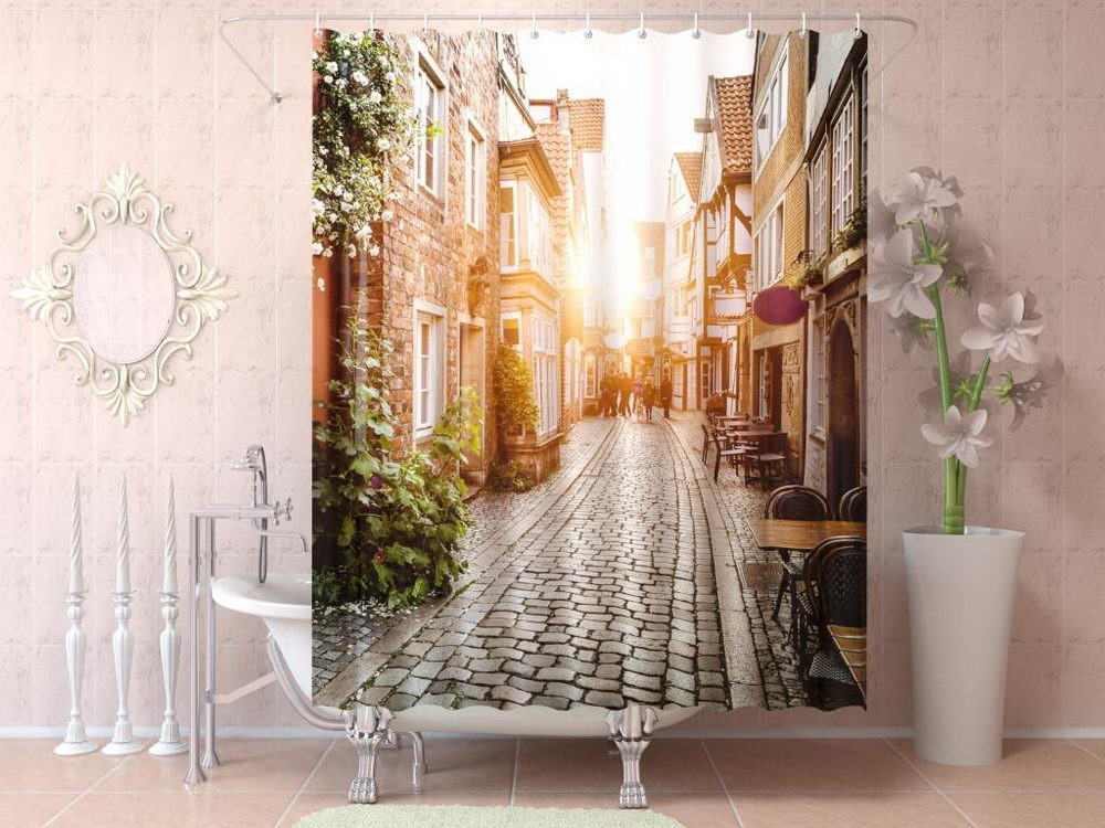 Unique 3D Shower Curtain