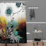 Unique Shower Curtain Floral Pattern