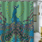 Unique Shower Curtain with Peacock