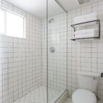 All White Tile Bath