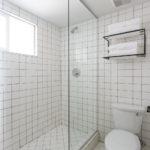 All White Tile Bath