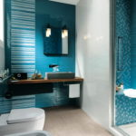 Aqua Blue Bathroom Interior Design